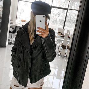 Dark Brown Leather-like Jacket